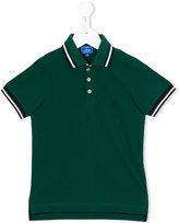 Fay Kids - contrast striped trim polo shirt - kids - Cotton - 2 yrs