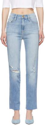 Frame Blue Le Sylvie Raw Edge Jeans
