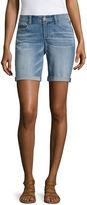Arizona 9 Skinny Fit Denim Bermuda Shorts-Juniors