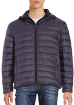 Hawke & Co Packable Down Puffer Hooded Coat