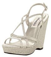 Dyeables Dyeables, Inc Women's Dee Wedge Sandal, Gold, 7 M US