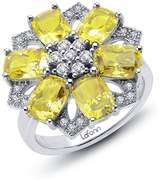 Lafonn Yellow & White Simulated Diamond Red Carpet Flower Ring