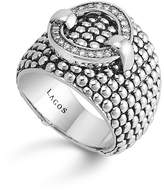 Lagos Enso Diamond Ring in Sterling Silver