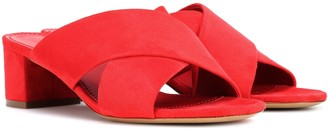 Mansur Gavriel 40mm Crossover suede sandals
