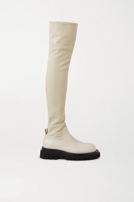 Bottega Veneta Leather Over-the-knee Boots - Cream