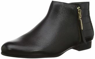 Dune London Dune Ladies Women's PANDAN Side Zip Ankle Boots Size UK 5 Black Flat Heel Ankle Boots