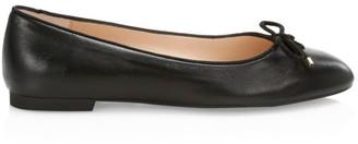 Stuart Weitzman Gabby Leather Ballet Flats