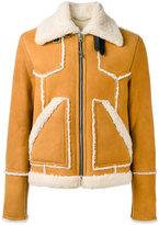 Coach shearling jacket - men - Lamb Skin/Calf Leather/Lamb Fur - 48