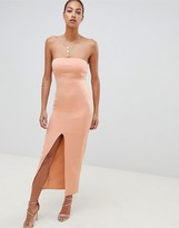 Asos Design DESIGN scuba bandeau maxi dress