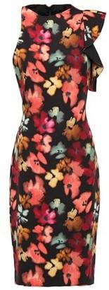 Black Halo Pabla Ruffled Floral-print Crepe Dress
