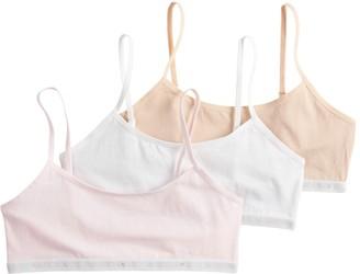 Maidenform Girls 6-16 3-Pack Logo Bralettes