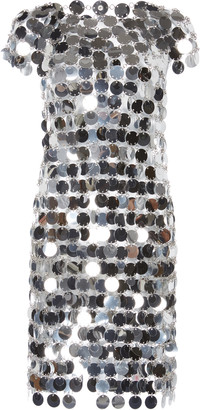 Paco Rabanne Sequin Chainmail Mini Dress