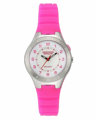 Armitron Sport Women's Quartz Sport Watch with Silicone Strap Pink 16 (Model: 25/6444MAG)
