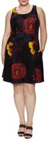 Rachel Roy Scuba Floral Print Flared Dress