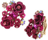 Betsey Johnson In Love Flower Clip Earrings