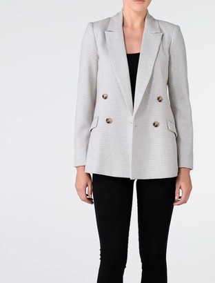 Forever New Millie Wool Blazer - Houndstooth - 8