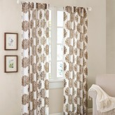 "Nobrand No Brand Reese Mdallion Burn-Ot Sher Curtain Panel - Grey (52""x95"")"