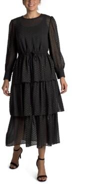 Julia Jordan 3-Tier Ruffle Maxi Dress