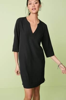 Next Womens Black V-Neck Dress - Black