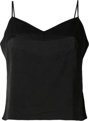 Chanel Pre Owned tonal Camellia print camisole