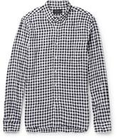 Beams Button-Down Collar Gingham Linen Shirt