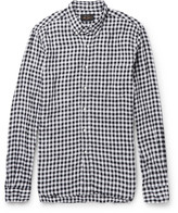 Mens Black Linen Button Down Shirt - ShopStyle