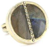 "Paige Novick Barcelona"" Labradorite Medallion Ring Size 7"