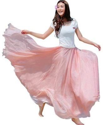 Pingtr Women Chiffon Long Maxi Beach Dress