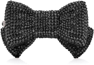 Judith Leiber Couture Shimmery Bow Tie Crystal Pillbox