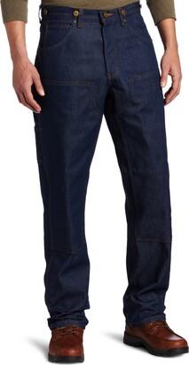Key Apparel Key Industries Men's Indigo Denim Double Front Logger Dungaree Pant 32W x 34L