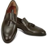 Fratelli Rossetti Dark Brown Calf Leather Tassel Loafer Shoes