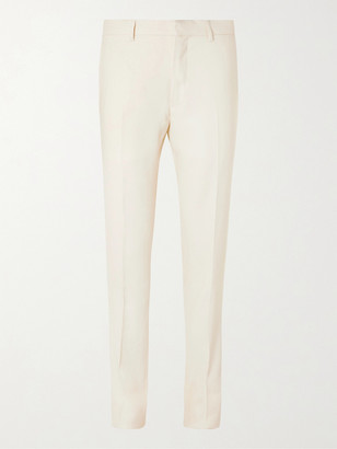Caruso Pleated Linen And Silk-Blend Twill Suit Trousers