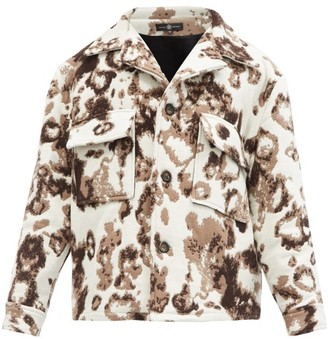 Edward Crutchley Single-breasted Wool Jacket - White Multi