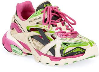 Balenciaga Track 2 Open Metallic Sneakers