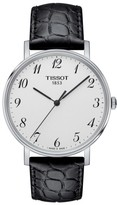 Tissot Men's Everytime Leather Strap Watch, 38Mm