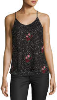 Romeo & Juliet Couture Floral-Embroidered Beaded Tank
