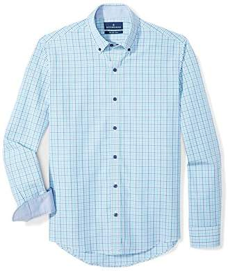 Buttoned Down Amazon Brand Men's Slim Fit Button-Collar Supima Cotton Dress Casual Shirt