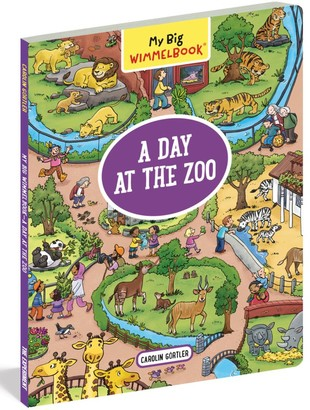 Workman Publishing My Big WimmelbookA Day at the Zoo Book