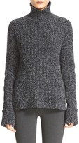 Joseph Women's Wool Blend Melange Knit High Neck Sweater