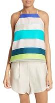 Milly Women's Stripe Trapeze Camisole