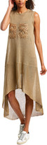 Brunello Cucinelli Linen & Silk-Blend Shift Dress