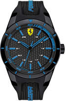 Ferrari Scuderia Men's RedRev Black Silicone Strap Watch 44mm 830247