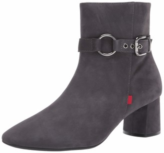 Marc Joseph New York Women's Genuine Leather Block Heel with Buckle Detail Madison Bootie