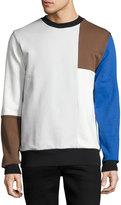 Wesc Miles Colorblocked Pullover Sweatshirt, Blue