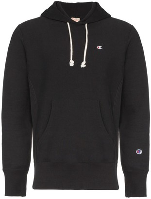 Champion black reverse weave terry cotton hoodie