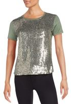MLV Rosalyn Sequined-Front Tee