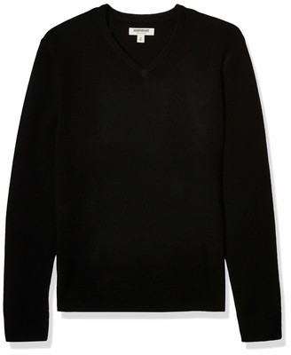 Goodthreads Lambswool V-neck Sweater Black M Tall
