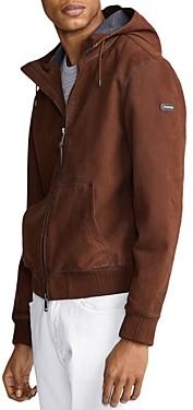 Polo Ralph Lauren Henson Nubuck Leather Full-Zip Hoodie