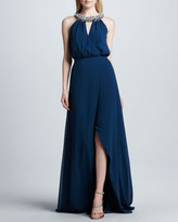Erin Fetherston Erin by Sleeveless Gown with Embellished Neckline