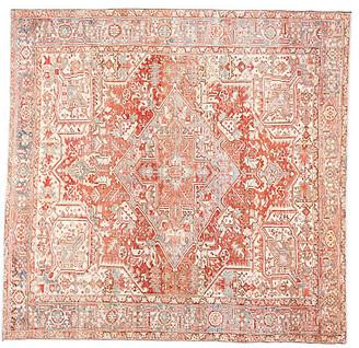 "One Kings Lane Vintage Antique Persian Heriz Rug - 9' 1"" x 9' 3"" - Apadana - red/blue/ivory"